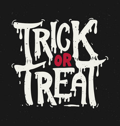 trick or treat halloween theme hand drawn vector image vector image