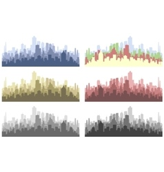 abstract city silhouette vector image vector image