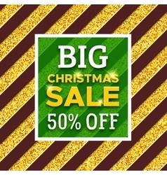 Big christmas sale 50 percent off promotion banner vector