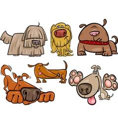 funny dogs set cartoon vector image