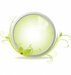 looking glass vector image vector image