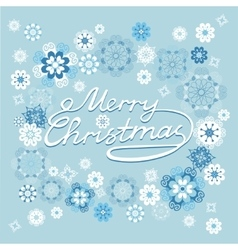 Merry Christmas card with snowflakes vector image vector image
