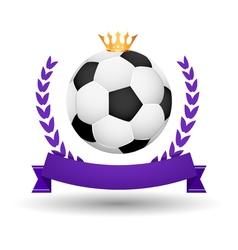Soccer championship emblem design template Golden vector image