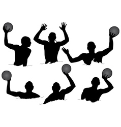 Water Polo Silhouette vector image vector image