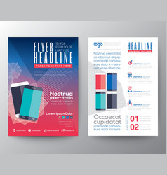 Abstract design template layout flyer brochure vector image vector image