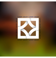 Abstract icon for design vector image vector image