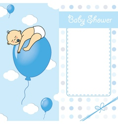 baby boy birth car vector image vector image