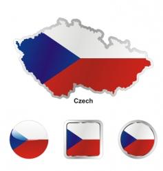 Czech flag vector image vector image