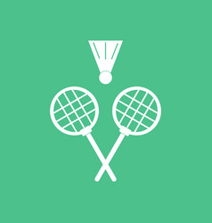 Icon kids badminton vector