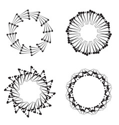 round frames or circle black and white vector image vector image