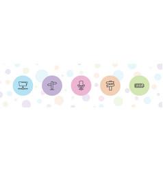 5 empty icons vector