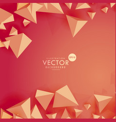 abstract 3d triangle background on red background vector image