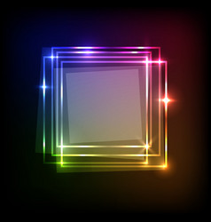 Abstract background with colorful squares banner vector