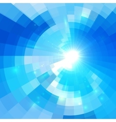 Abstract blue circle technology background vector