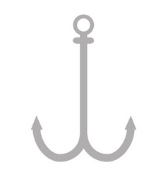 anchor metal isolated icon vector image