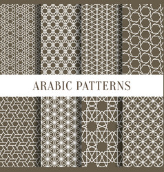 Arabic or asian seamless pattern set from simple vector