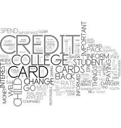 Are credit cards a big danger text word cloud vector