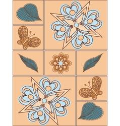 Arrangement flowers vector image