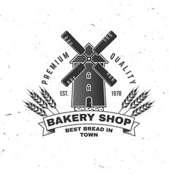bakery shop concept for badge shirt vector image