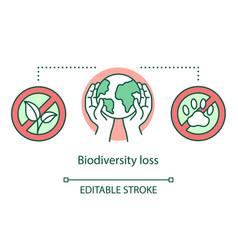 Biodiversity loss concept icon species extinction vector