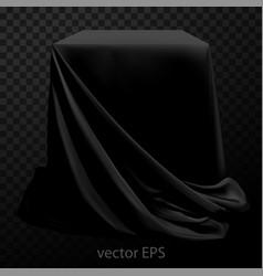 Black silk fabric covering the podium beautiful vector