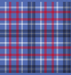 Blue check plaid pixel fabric seamless texture vector