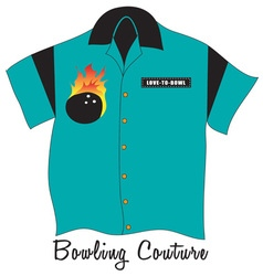 Bowling Couture vector image