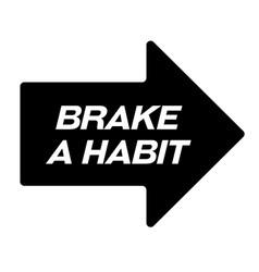 Brake habit black stamp vector