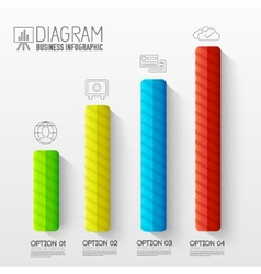 Business abstract 3D digital Infographic vector image