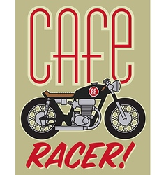 Cafe racer motorcycle design vector