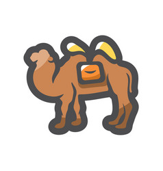 camel desert animal icon cartoon vector image