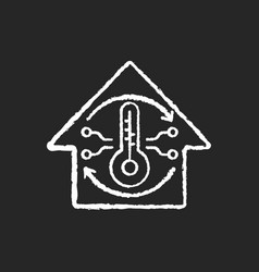 Central air conditioning chalk white icon vector