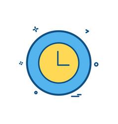 clock basic icon design vector image