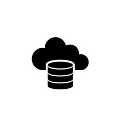 cloud computing database computing server flat vector image