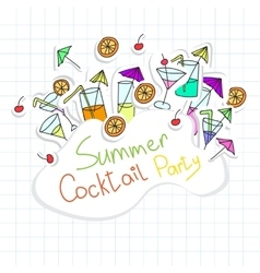 Cocktail Party card vector image