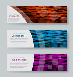 Color image horizontal banners with a blurred vector