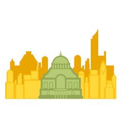 colored cityscape of mexico city vector image