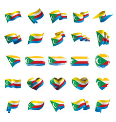 comoros flag vector image