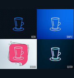 cup of tea line icon fresh beverage sign vector image