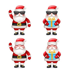 cute 3d realistic cartoon secret santa claus toy vector image