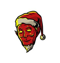 Devil santa claus vector