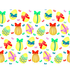 Easter eggs with bows vector