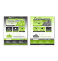 easy customizable green and dark grey website vector image