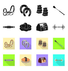Equipment and riding symbol vector