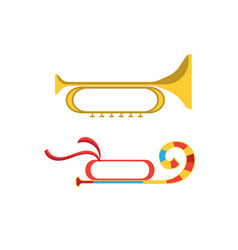 festive musical instrument in the form of musical vector image