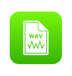 file wav icon digital green vector image