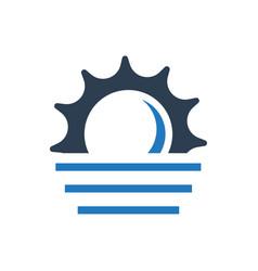 Foggy weather icon vector