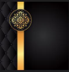 Gold black background design sun indian vector