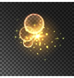 Golden glitter Bokeh shining lights vector image