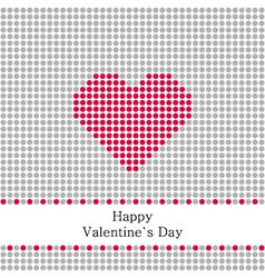 greeting card valentines day with grey circles vector image
